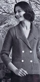 double breasted women u0027s jacket vintage knitting pattern pdf 1950s