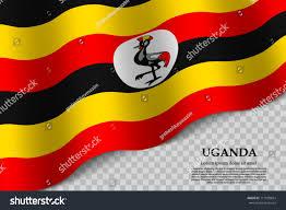 Images Of Uganda Flag Waving Flag Uganda On Transparent Background Stock Vector