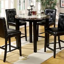 round counter height table set atlas iv 5pcs black wood round counter height table set shop for