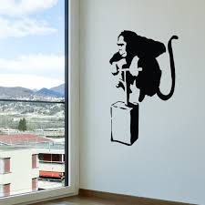 banksy exploding monkey walls need love touch of modern banksy exploding monkey