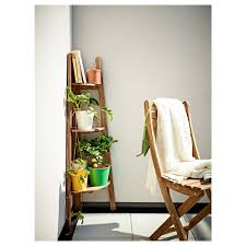 askholmen plant stand grey brown stained balconies wood stain