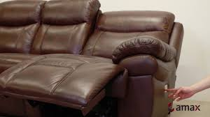 Brown Leather Sofas Summerlands Power Recline Brown Leather Sofa Set Youtube