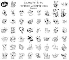 free littlest pet shop coloring pages funycoloring