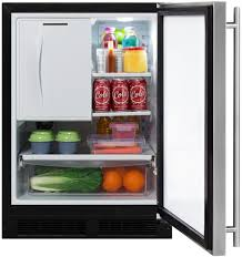 Glass Door Refrigerator Freezer For Home Marvel Ml24rfs3rs 24 Inch Built In Refrigerator Freezer With