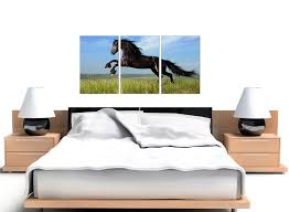 Bedroom Wall Stickers Uk Cheap Horse Canvas Wall Art Set Of 3 For Your Girls Bedroom