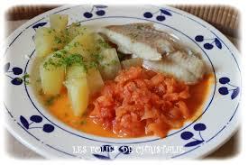 comment cuisiner le filet de colin filet de colin pommes de terre à la sauce tomate thermomix tm5