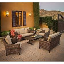 Costco Patio Furniture by Woodcliff 7 Piece Seating Set