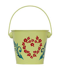 Home Decor At Wholesale Prices Source Bucket Design Hanging Metal Planter Pot In Light Green For