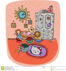 toddler room interior in cartoon style stock illustration