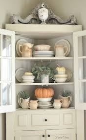 kitchen corner display cabinet faded charm ironstone in the farmhouse there s no place like