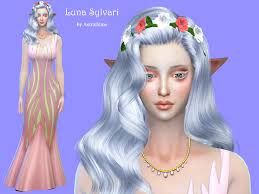 sims 4 blue hair hi everyone i decided to create fantasy sim luna sylvari is a