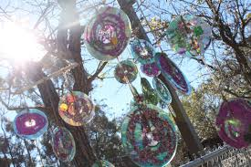 upcycled cd sun catchers delicate construction