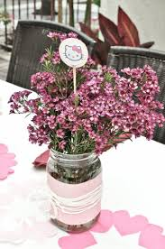 Bridal Shower Centerpiece Ideas by Simple Diy Wedding Flower Centerpiece With Pink Wax Flowers In