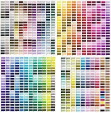 sample pms color chart
