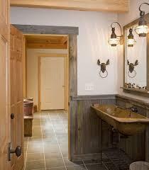 Rustic Bathroom Fixtures - extraordinary bathroom tub chair towel sink bed beams and small