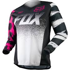 neon motocross gear all new fox racing 2015 girls youth 180 jersey black pink wide