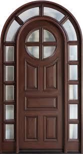 Wooden Door Design For Home Front Door Custom Single With 2 Sidelites Solid Wood With Dark