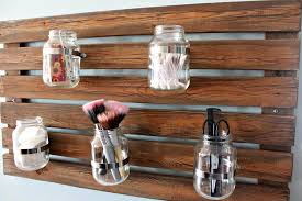 Mason Jar Bathroom Organizer Diy Pallet Multi Functional Organizer Pallet Furniture