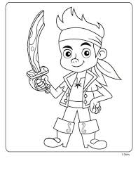 disney jake neverland pirates coloring sheets free