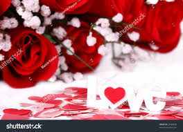 roses and hearts roses hearts word stock photo 23420830