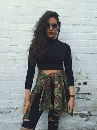 army pattern crop top vintage oversized camouflage print army shirt jacket love route