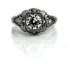 Art Deco Wedding Rings by The Blog At Vintagediamondrings Com Art Deco Diamond Rings