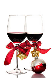 wine glass christmas ornaments wine and christmas ornaments stock photo image of wineglass