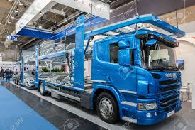 scania truck hannover germany sep 23 2016 scania truck with the rimo