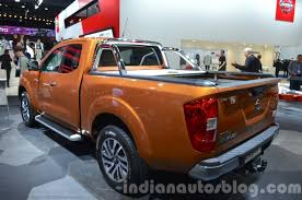 nissan np300 navara nissan navara np300 rear three quarter left at iaa 2015 indian