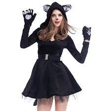 black dress for halloween party online buy wholesale black cat costume from china black cat