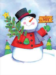 joyful snowman cute christmas card by designer greetings