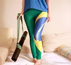 Blank Brazil Flag Brazil Leggings Brasil Brazilian Flag Leggings Fifa Funky
