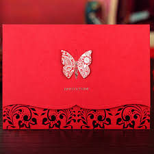 3d butterfly design wedding invitation card invitaion with