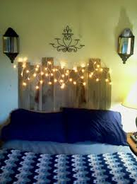 Headboard Made From Pallets Diy Pallet Headboard With Lights 99 Pallets