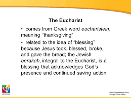 what s in a name the dynamism of the eucharist ppt