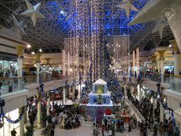 decorations at wafi mall in dubai uae stock photo
