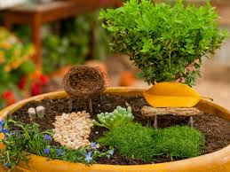 Small Water Gardens In Containers How To Create A Fairy Garden In A Container How Tos Diy
