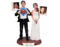 superman groom with your choice of wedding cake topper