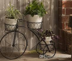 Metal Garden Flowers Outdoor Decor Best Plant Stand Flowers Pot Bike Outdoor Bicycle Home Garden