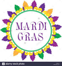 mardi gras frame mardi gras frame template with space for text isolated on white