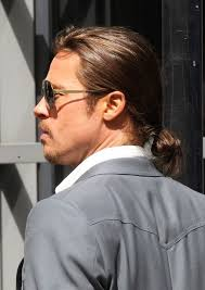 guy ponytail hairstyles brad pitt haircut stylish casual ponytail for men hairstyles weekly