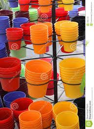 Pots For Sale Colorful Plant Pots Stock Photo Image 39891332