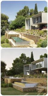 Homes Built Into Hillside 337 Best House Images On Pinterest Architecture Modern Houses