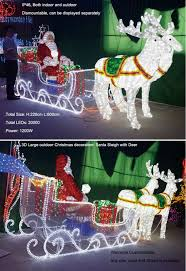 outdoor led lighted santa claus sleigh decoration buy