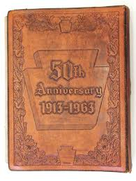 Leather Scrap Book 50th Anniversary Scrap Book