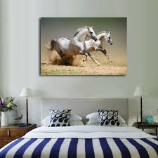 compare prices on running horses painting with frame online home decor posters and prints horse running on the prairie wall pictures for living room canvas