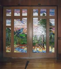 stained glass designs for doors furniture modular modern double swing door feature oak wood