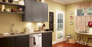 gray kitchen cabinets yellow walls yellow kitchen ideas and inspirational paint colors behr