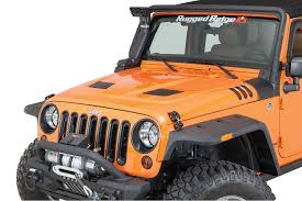 rugged ridge 17759 01 performance vented hood for 07 18 jeep