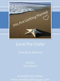 beach save the date card template